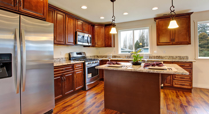 Well Designed Kitchen with Cabinets