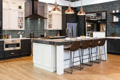 Charcoal & Dove Transitional Cabinets