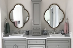 Greige Maple Vanity Cabinets