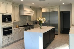 Pearl and Espresso Maple Kitchen Cabinets