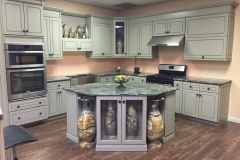 Greige Maple Kitchen Cabinet