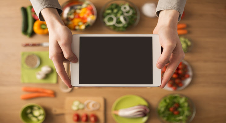 Food Preparation with App Help