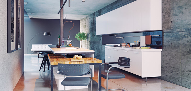 Metalic Design of Kitchen