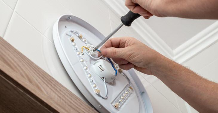 Bathroom Light Installation